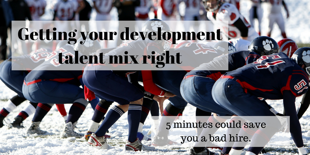 Getting your development talent mix right